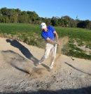 Im Bunker: Konzentrieren Sie sich auf den Sand